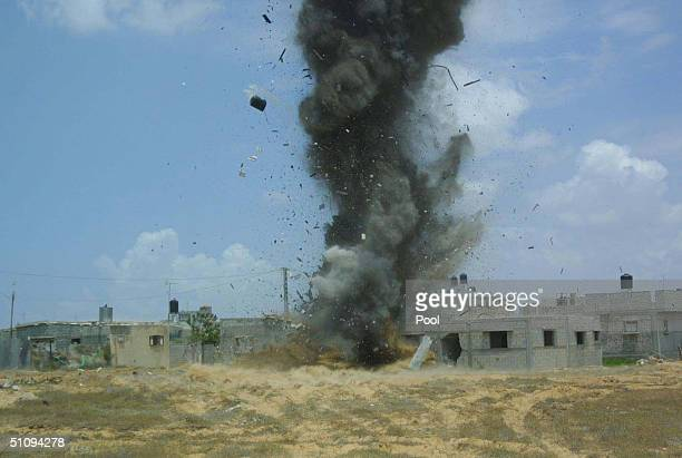 Israeli Forces Blow Up A Tunnel May 15 2002 In The Area Of Rafah Located Within The Gaza Strip The Tunnel Was Allegedly Used By Palestinian Militants...
