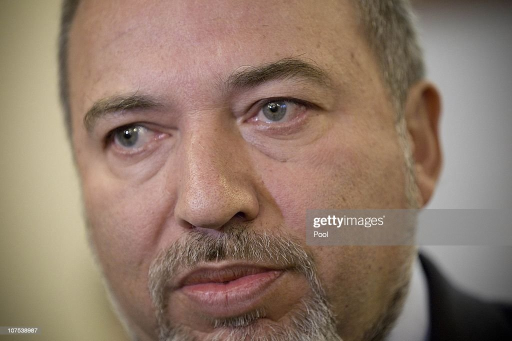 Israeli Foreign Minister Avigdor Liberman attends a cabinet meeting held at the Prime Minister's office on December 12, 2010 in Jerusalem, Israel. At the forefront of issues discussed were plans to invest in the establishment of a national firefighting authority.
