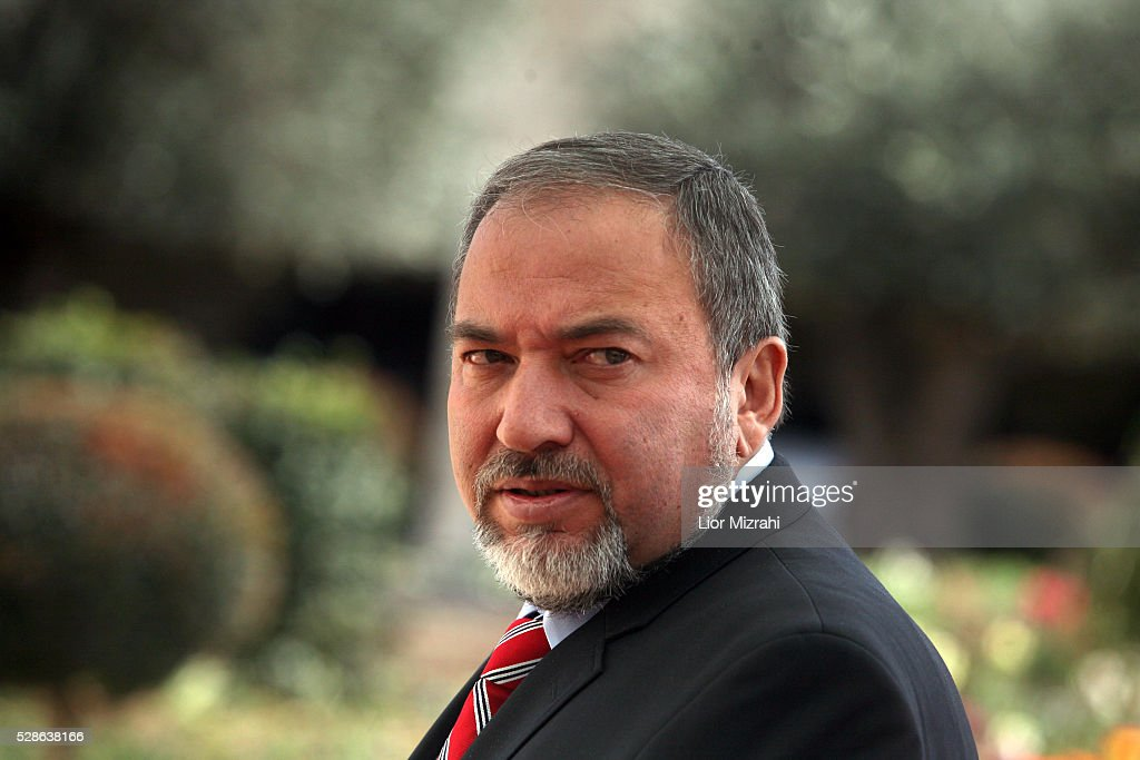 Israeli Foreign Minister Avigdor Liberman is seen before a meeting on February 15, 2011 in Jerusalem, Israel.