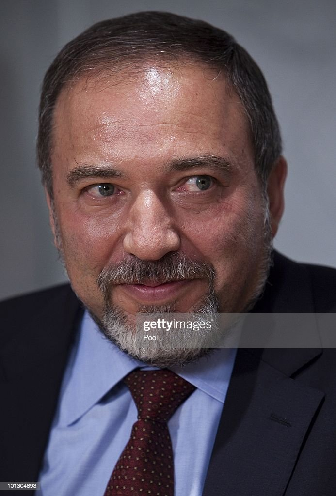 Israeli Foreign Minister <a gi-track='captionPersonalityLinkClicked' href=/galleries/search?phrase=Avigdor+Lieberman&family=editorial&specificpeople=652650 ng-click='$event.stopPropagation()'>Avigdor Lieberman</a> briefs the media during a press conference on May 31, 2010 in Jerusalem, Israel. The killing of at least nine pro-Palestinian activists in an Israeli naval raid earlier in the day on an aid flotilla bound for the blockaded Gaza Strip has generated international condemnation. In response Lieberman accused the flotilla of being manned by terrorist supporters and that Israel had no intention of allowing an any attack on the sovereignty of Israel. Israeli Prime Minister Benjamin Netanyahu has returned to Israel, cancelling a meeting scheduled for tomorrow with President Barack Obama which was hoped might address tensions in US and Israeli relations and regain momentum in the peace process.