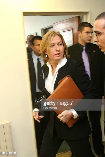 Israeli Foreign Minister Tzipi Livni arrives to the weekly cabinet meeting at the Prime Minister's office in Jerusalem Wednesday January 18 2006...