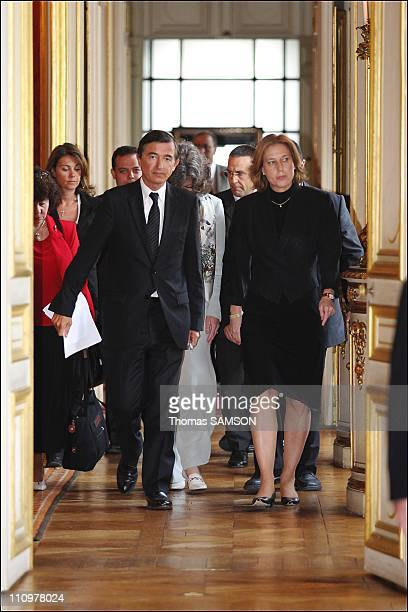 Israeli Foreign Minister Tzipi Livni French Foreign Minister Philippe DousteBlazy in Paris France on August 23rd 2006