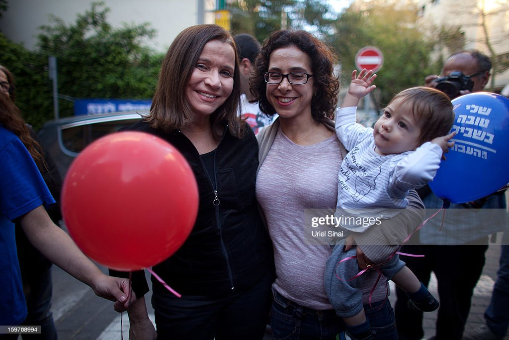Israeli Labor party leader Shelly Yachimovich campaigns on January 20, 2013 in Tel Aviv, Israel. The Israeli general election will be held on January 22.