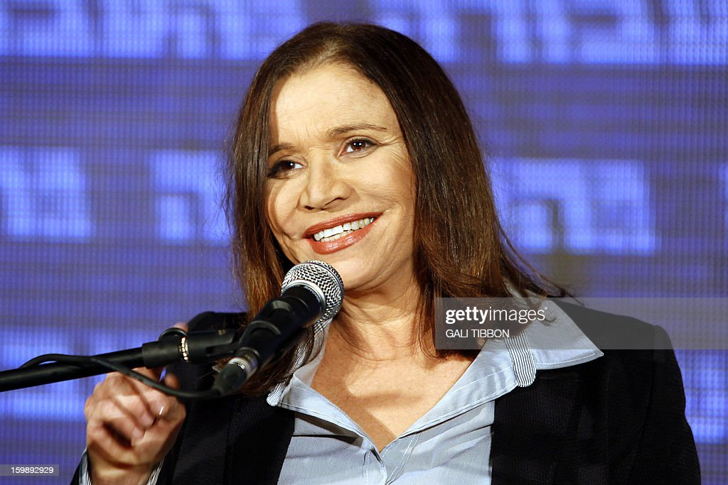 Israeli Labor party leader Shelly Yachimovich delivers a speech on January 22, 2013 at the party's headquarters in Kfar Saba, central Israel. Israeli Prime Minister Benjamin Netanyahu said it was necessary to form the 'broadest possible government' after his Likud-Beitenu list won a narrow election victory, with the centrist Yesh Atid in second place. AFP PHOTO/GALI TIBBON