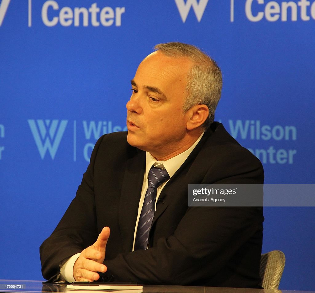 Israeli Minister of Intelligence Yuval Steinitz attends the American Israel Public Affairs Committee (AIPAC) convention at the Woodrow Wilson International Center in Washington, United States, on March 4, 2014.