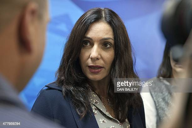 Israeli Minister of Sports and Culture Miri Regev attends the weekly cabinet meeting on June 21 2015 in Jerusalem AFP PHOTO / POOL / DAN BALILTY