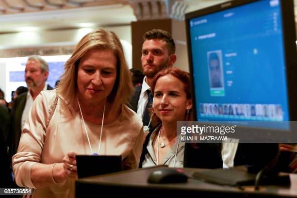 Israeli MP Tzipi Livni attends the opening session of the World Economic Forum held in the Dead Sea resort of Shuneh west of the Jordanian capital...