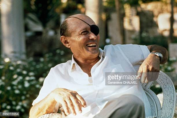 Israeli Politician and General Moshe Dayan at Home