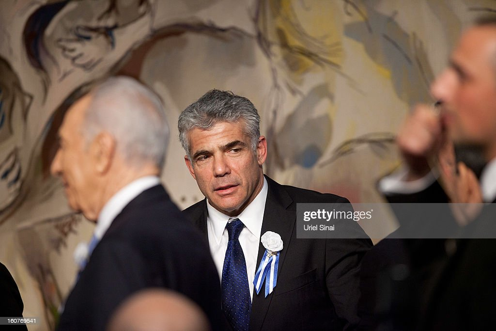 Israeli politician Yair Lapid, leader of the Yesh Atid party, during a reception marking the opening of the 19th Knesset (Israeli parliament) on February 5, 2013 in Jerusalem, Israel. The 120 members of the Knesset included a record 48 new law makers.
