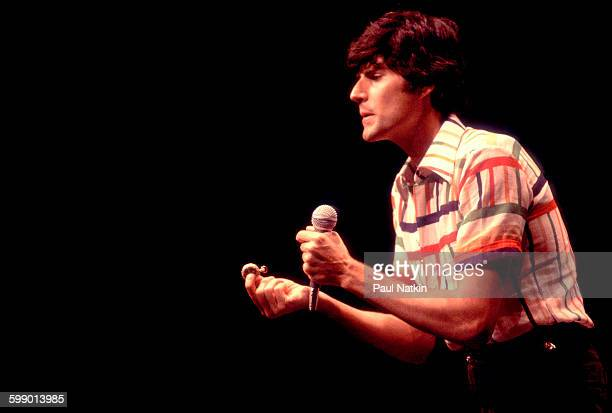 Israeli popular entertainer Uri Geller performs illusions onstage at the Park West Chicago Illinois August 25 1979