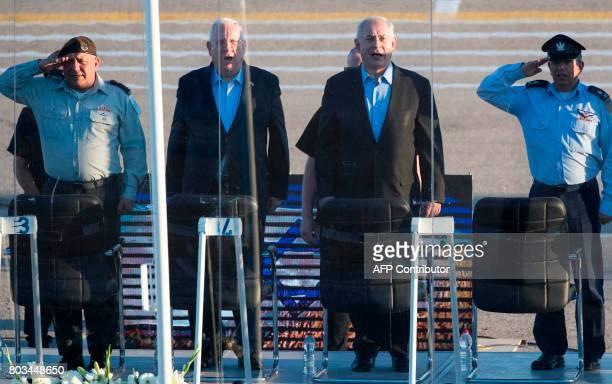 Israeli President Reuven Rivlin Israeli Prime Minister Benjamin Netanyahu Israeli Chief of Staff LieutenantGeneral Gadi Eizenkot and Israeli Air...