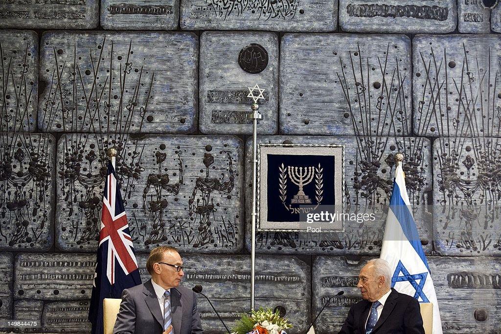 Australian Foreign Minister Bob Carr Visits Israel
