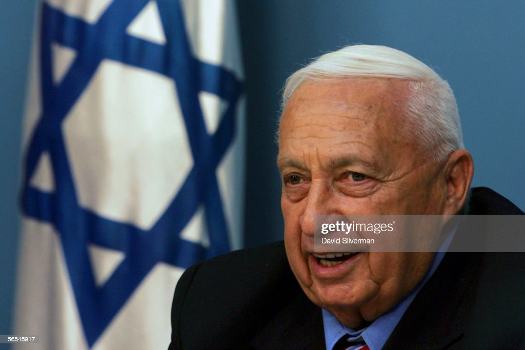 Israeli Prime Minister <a gi-track='captionPersonalityLinkClicked' href=/galleries/search?phrase=Ariel+Sharon&family=editorial&specificpeople=156426 ng-click='$event.stopPropagation()'>Ariel Sharon</a> speaks during a press conference in his offices on November 21, 2005 in Jerusalem, Israel. Sharon announced his split from his right-wing Likud party to form a new political party he intends to lead to victory in early general elections.