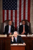 Israeli Prime Minister Benjamin Netanyahu addresses a joint meeting of the US Congress May 24 2011 on Capitol Hill in Washington DC Netanyahu said...