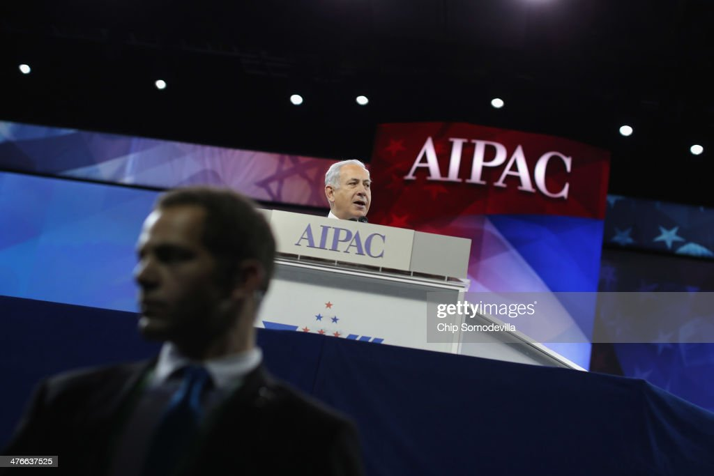 Israeli Prime Minister <a gi-track='captionPersonalityLinkClicked' href=/galleries/search?phrase=Benjamin+Netanyahu&family=editorial&specificpeople=118594 ng-click='$event.stopPropagation()'>Benjamin Netanyahu</a> addresses the American Israel Public Affairs Committee's Policy Conference at the Walter Washington Convention Center March 4, 2014 in Washington, DC. Netanyahu met with President Barack Obama for three hours Monday at the White House where the two leaders discussed ongoing negotiations with Iran about its nuclear program and the faltering Israel-Palestinian peace talks.