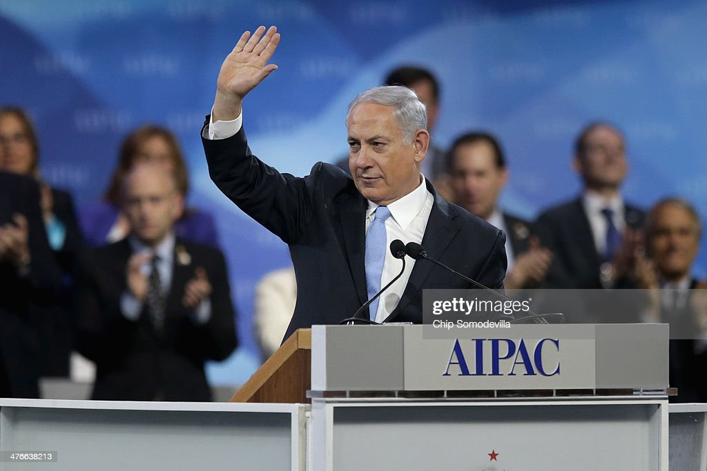 Israeli Prime Minister Benjamin Netanyahu addresses the American Israel Public Affairs Committee's Policy Conference at the Walter Washington Convention Center March 4, 2014 in Washington, DC. Netanyahu met with President Barack Obama for three hours Monday at the White House where the two leaders discussed ongoing negotiations with Iran about its nuclear program and the faltering Israel-Palestinian peace talks.