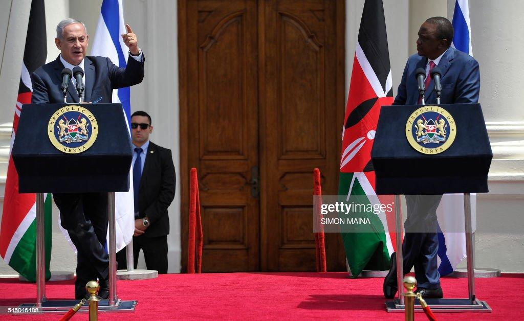 Image result for israeli prime minister and uhuru kenyatta