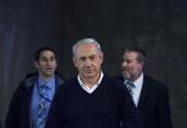 Israeli Prime Minister Benjamin Netanyahu attends the weekly cabinet meeting December 15 2013 in Jerusalem Israel