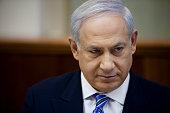 Israeli Prime Minister Benjamin Netanyahu chairs the weekly cabinet meeting on April 17 2011 in Jerusalem Israel