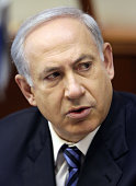 Israeli Prime Minister Benjamin Netanyahu speaks as he chairs the weekly cabinet meeting in his offices on December 27 2009 Netanyahu commented that...