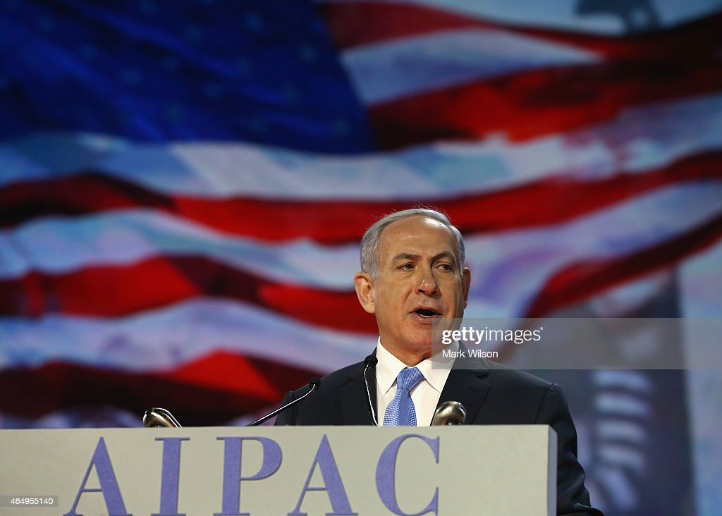 Israeli Prime Minister <a gi-track='captionPersonalityLinkClicked' href=/galleries/search?phrase=Benjamin+Netanyahu&family=editorial&specificpeople=118594 ng-click='$event.stopPropagation()'>Benjamin Netanyahu</a> speaks during the American Israel Public Affairs Committee (AIPAC) 2015 Policy Conference, March 2, 2015 in Washington, DC. Tomorrow March 3rd Prime Minister Netanyahu is scheduled to address a joint session of the US Congress.