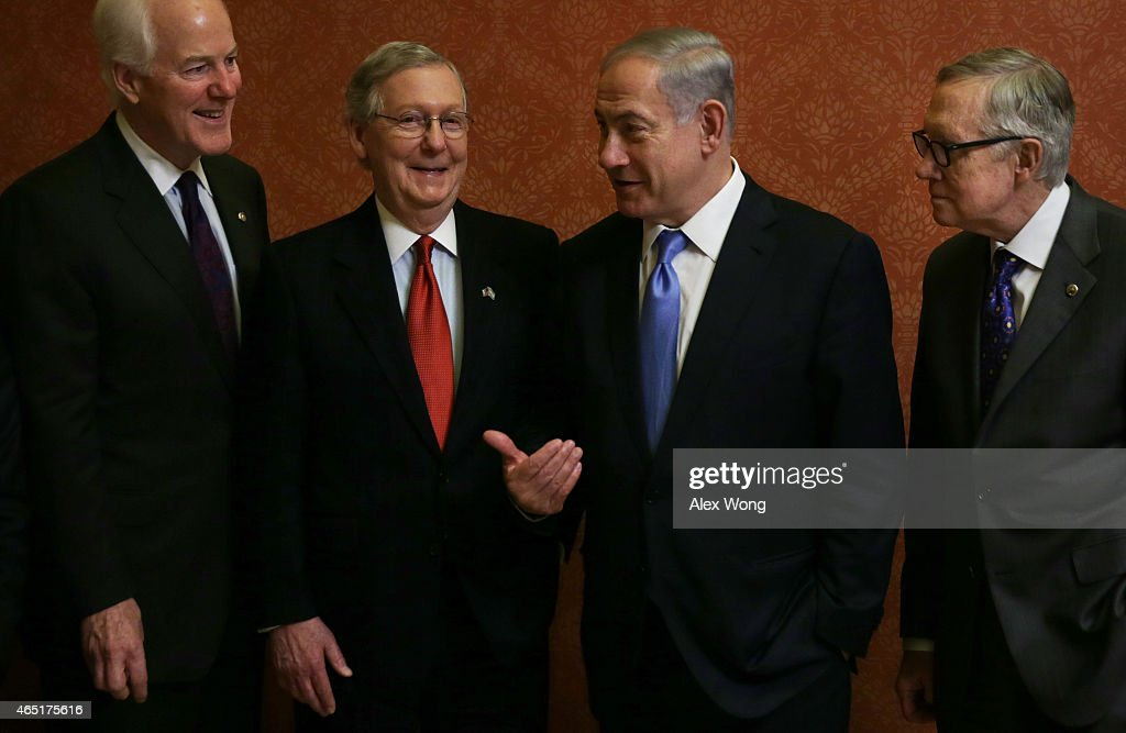 Israeli Prime Minister Netanyahu Meets With Sens. McConnell And Reid On Capitol Hill
