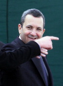 Israeli Prime minister Ehud Barak leaves a meeting with Palestinian Authority President Yasser Arafat 03 February 2000 at the Erez Crossing to the...