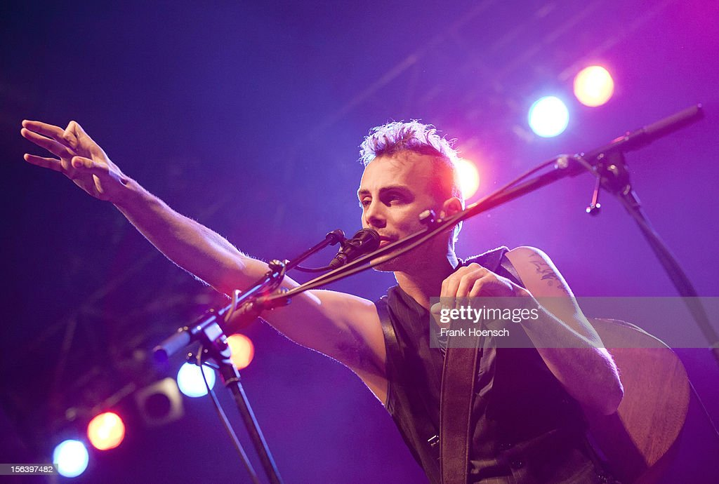 Israeli singer Asaf Avidan performs live during a concert at the Huxleys on November 14, 2012 in Berlin, Germany.