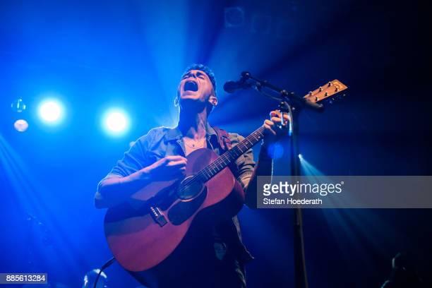 Israeli singer Asaf Avidan performs live on stage during a concert at Huxleys Neue Welt on December 4 2017 in Berlin Germany