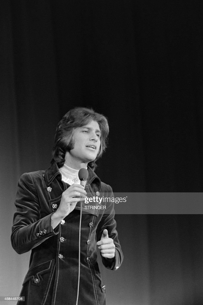 Israeli Singer Mike Brant Performs On Stage At The Olympia