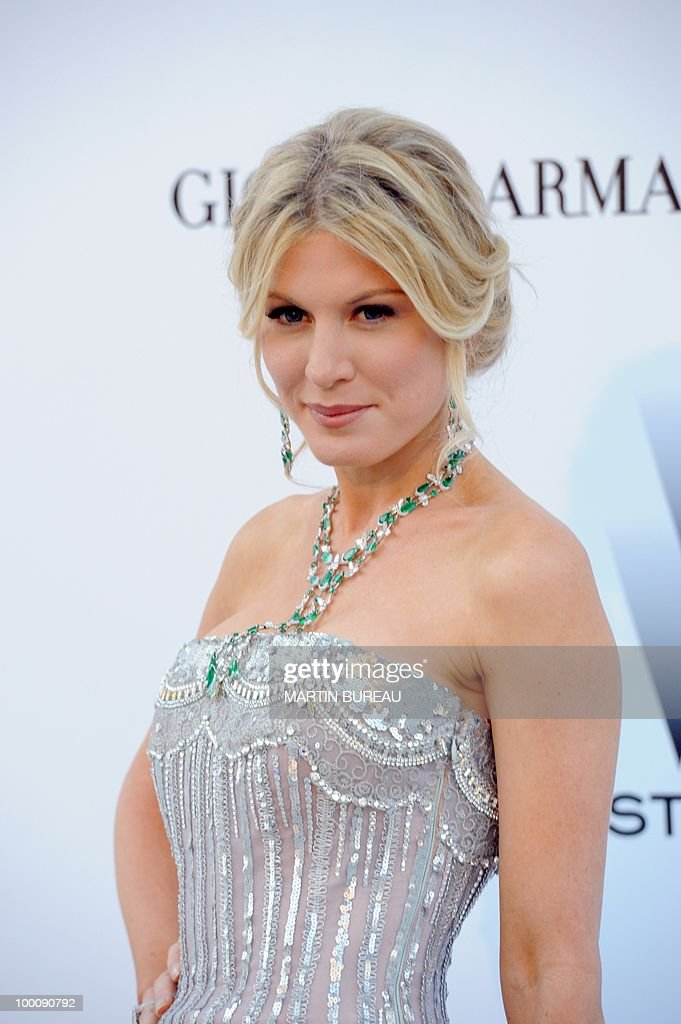 Israeli socialite Hofit Golan poses while arriving at amfAR's Cinema Against Aids 2010 benefit gala on May 20, 2010 in Antibes, southeastern France.