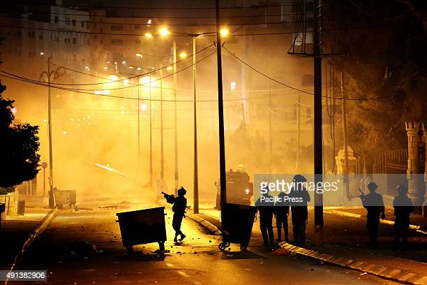 Israeli soldiers charge into the streets of the West Bank city of Bethlehem firing tear gas at Palestinian demonstrators Palestinians across the West...