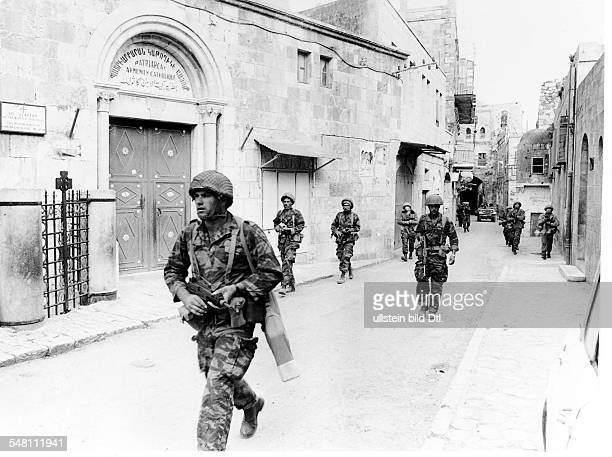 Israeli soldiers on Via Dolorosa in the old town of Jerusalem