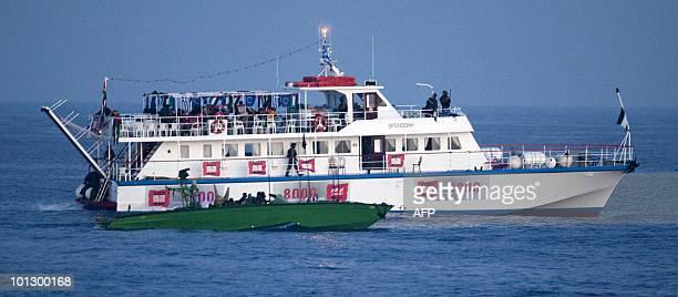 Israeli soldiers raid a ship as the Israeli navy intercepts a Gazabound aid flotilla in the Mediterranean Sea on May 31 killing several...