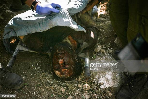 Israeli troops kill a Palestinian 'Mohammed Assi' during clashes in the village of Bil'in near the West Bank city of Ramallah October 22 2013 Israeli...