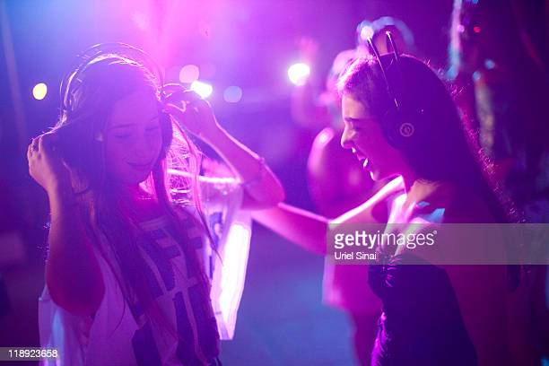 Israeli Youths Celebrate Summer At Silent Disco party on July 12 2011 in Tel Aviv Israel In order to prevent excess noise from bothering others...