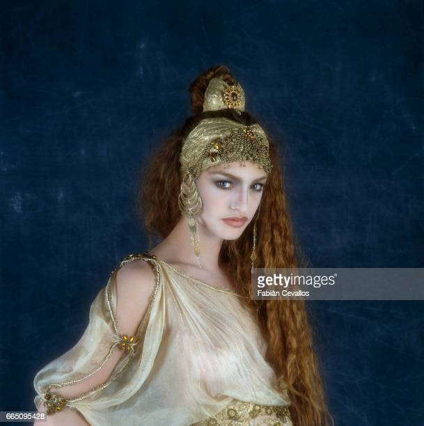 Israelianborn supermodel and actress Michaela Bercu on the set of 'Dracula' directed by American director Francis Ford Coppola and based Bram...