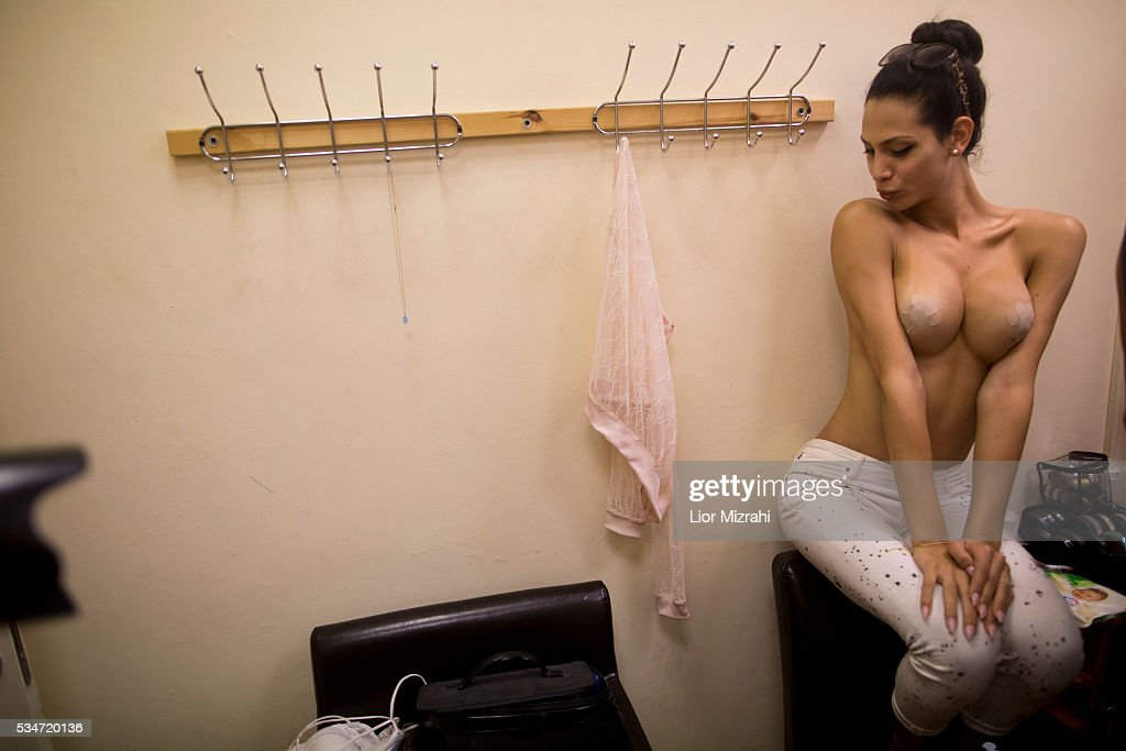 Israeli-Arab contestant Taalin Abu Hana, the winner of the first Miss Trans Israel beauty pageant, prepares backstage on May 27, 2016 in Tel Aviv, Israel. Twelve Israeli transgender finalists took part in the event. The event marks the beginning of the 2016 Pride events.
