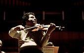 Israeliborn American violinist Itzhak Perlman rehearsing the Sibelius concerto at the Royal Festival Hall London