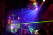Israelis enjoy a night out at Allenby 40 dance bar on October 04 2013 in Tel Aviv Israel