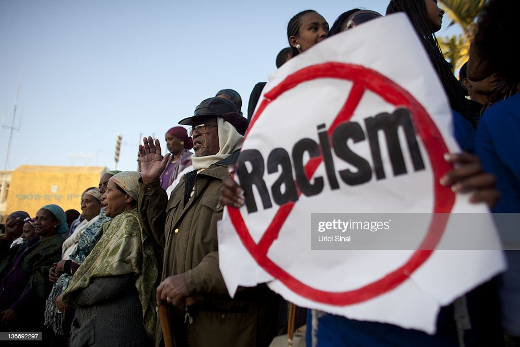 Israelis of Ethiopian origin take part in a rally against racism on January 10 in the southern Israeli town of Kiryat Malachi Israel Hundreds of...