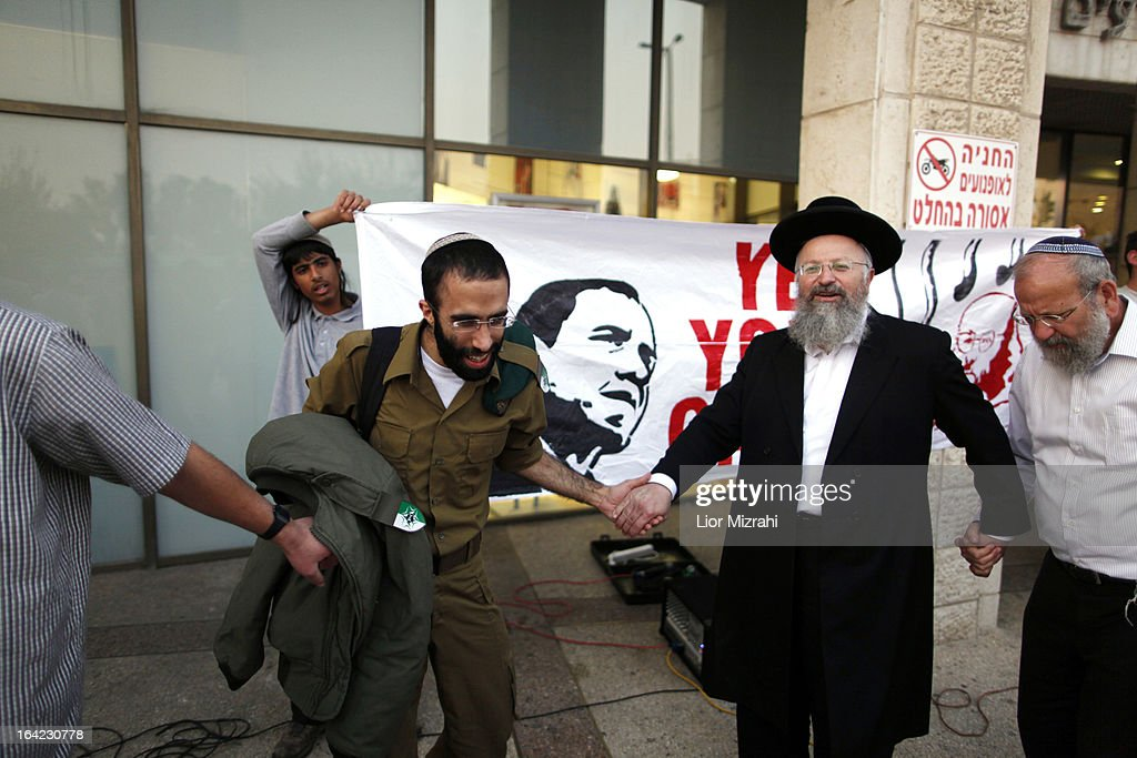 Israelis protest against U.S. President Barack Obama and call for the release of Jonathan Pollard, a Jewish American who was jailed in 1987 on charges of spying on the U.S. March 21, 2013 in Jerusalem , Israel. This is Obama's first visit as president to the region and his itinerary includes meetings with the Palestinian and Israeli leaders as well as a visit to the Church of the Nativity in Bethlehem.