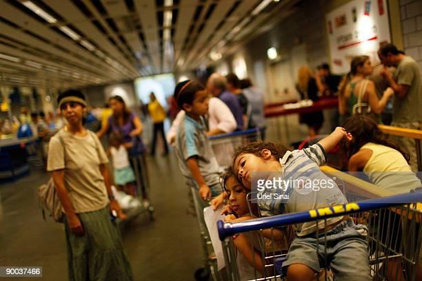 Israelis shop at Swedish retail giant IKEA on August 24 2009 in the coastal city of Netanya north of Tel Aviv Swedish newspaper Aftonbladet has...