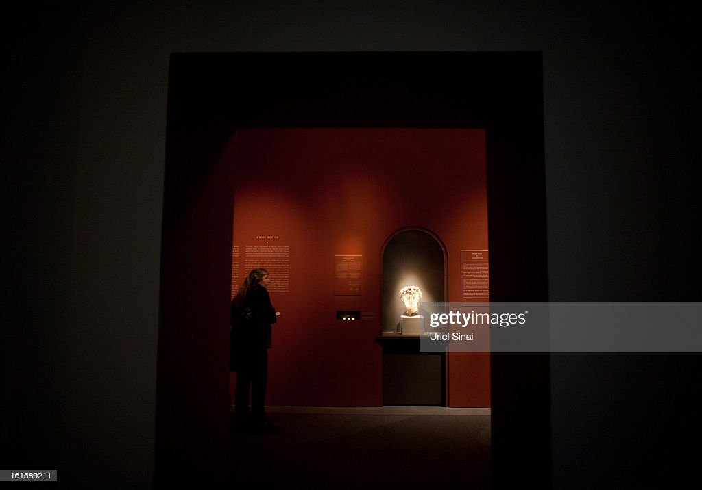 Israelis visit the 'Herod the Great' exhibition as it opens at the Israel museum on February 12, 2013 in Jerusalem, Israel. The exhibition is devoted to the architectural legacy of King Herod, the Jewish proxy monarch who ruled Jerusalem and the Holy Land under Roman occupation two millennia ago.