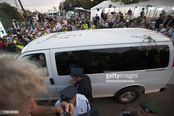 Israelis welcome Israeli soldier Gilad Shalit at their home town of Mitzpe Hila following a landmark deal with Hamas which freed Gilad after five...
