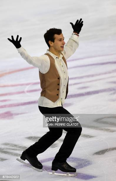 Israel's Alexei Bychenko performs a routine during the men's short programme for an event of the Internationaux de France ISU Grand Prix of Figure...