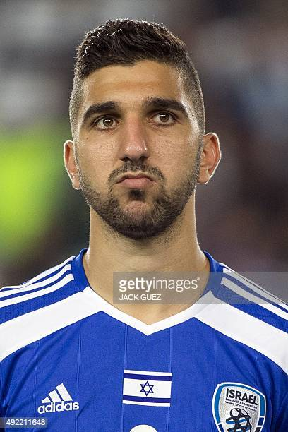 Israels forward Munas Dabbur poses for a picture before their Euro 2016 qualifying football match against Cyprus at the Teddy Kollek Memorial Stadium...