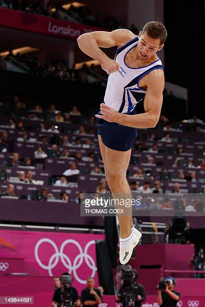 Israel's gymnast Alexander Shatilov competes in the men's floor exercise final of the artistic gymnastics event of the London Olympic Games on August...