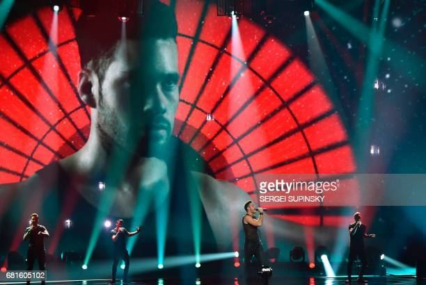 Israel's IMRI performs the song 'I Feel Alive' during the second semifinal dress rehearsal of the Eurovision Song Contest 2017 on May 10 2017 at the...