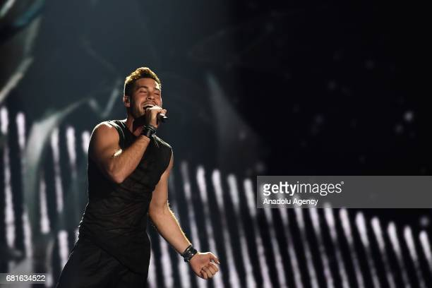 Israel's IMRI performs the song 'I Feel Alive' during the second semifinal dress rehearsal of Eurovision Song Contest 2017 at the International...
